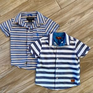 Blue button down shirts (Set of 2)